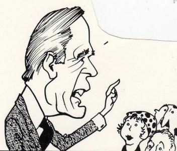 Geo H W Bush cartoon